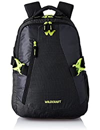 Wildcraft Polyester 37 Ltrs Black School Backpack (WC 8 Latlong 7)