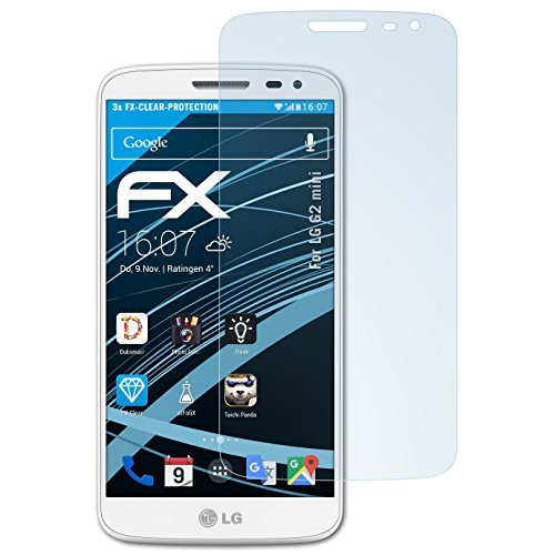 atFolix Schutzfolie kompatibel mit LG G2 Mini Folie, ultraklare FX Bildschirmschutzfolie (3X)