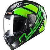 FF323 Arrow R Integralhelm ION schwarz/fluo grün S - Motorradhelm