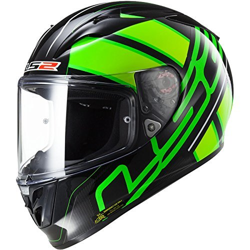 FF323 Arrow R Integralhelm ION schwarz/fluo grün L - Motorradhelm