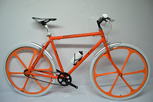 Cicli Ferrareis Bicicletta Bici Fixed Single Speed Scatto Fisso Arancio a Razze Personalizzabile