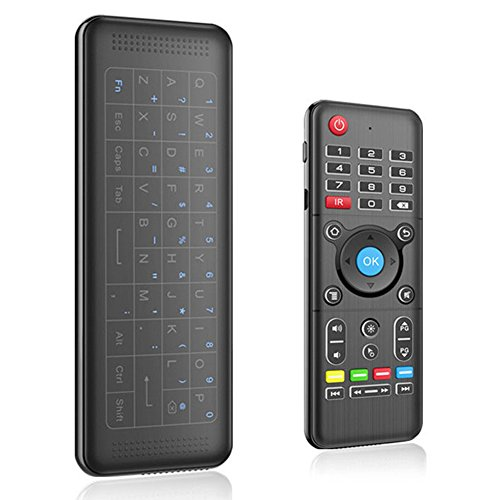 SODIAL Mini Wireless Tastatur H1, Fly Air Remote Maus, wiederaufladbare Maus mit Touchpad Combo mit IR lernen Maus Combo fuer Android Tv Box.HTPC.IPTV.Pad PS3 / PS4, PC.