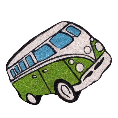 Felpudo Forma Retro De furgoneta Volkswagen Van Home regalo–verd