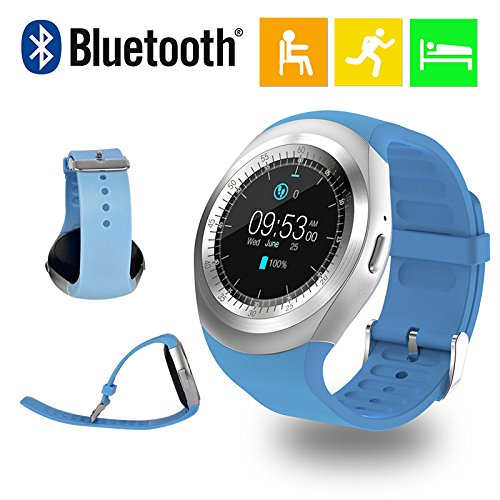 Mobilefit Bluetooth Smart Watch/Camera & Fashion New Arrival Hot Fashion Premium Quality Lowest Price Sports/ Outdoor/Health/ Digital Touch Screen/Lightweight...(Blue) Compatible for Micromax Bolt A068  available at amazon for Rs.2499