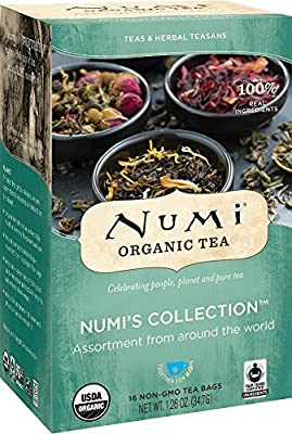 Numi Organic Tea Numi's Collection, Assorted Full Leaf Tea and Teasan, 18-Count Tea Bag by Numi Tea LLC [Foods]