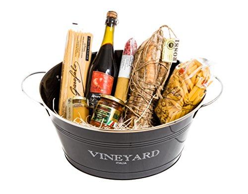 Cesto regalo by yeseatis - delizie d'italia - spumantiera grande con coppa di parma d.o.p. intera e 6 specialità gastronomiche