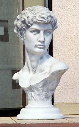 Büste David von Michelangelo (S102001) Gartenfiguren Statuen Steinguss Steinfiguren 67 cm