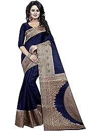 Harikrishnavilla Women's Cotton Saree With Blouse Piece (Neavy Blue-6, Free Size)