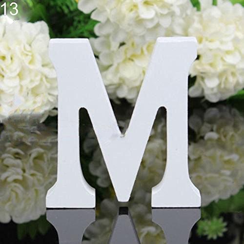 Good01 11cm x Holz-Buchstaben, Alphabet, für Hochzeit, Geburtstag, holz, M, 33 cm