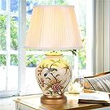 MEHE@ Mode Stilvoll Persönlichkeit kreativ Romantik Warm Chinesische Keramik Tischleuchte Wohnzimmer Studie Schlafzimmer Nacht Tischleuchte Lampen Schreibtischlampen Nachttischlampen