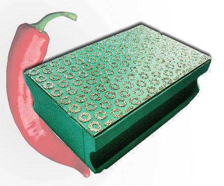 ChilliCut ChilliPad K50 Handpad Schleifpad Handschleifpad Schleifklotz Diapad Schleifschwamm für Fliesen Feinsteinzeug Glas Handschleifklotz Diamantschleifstein