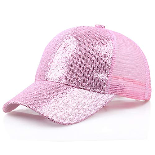 Damen Herren Pailletten Baseball Cap Club Mode Sommer Snapback Party Bb Hip Hop Cap Mütze Angelmütze Sport Outdoor Angeln Hat Joggen Fahrrad Tennis Golf Hut Kappe Unisex Erwachsene Basecap (Sportswear Tennis Kostüm)