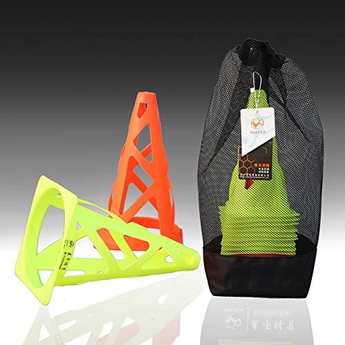 Li-shan 7,5 Zoll Kunststoff Sporttraining Verkehrshütchen (20er-Set) - für Kinderheim Gym Fußballtraining Fußball 2 Farben (Kunststoff Bau-kegel)