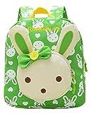 Freitop Kinderrucksack ab 3 Jahre mit Kaninchen Tier Bär Muster Schulrucksack Rucksack Backpack Daypack Schulranzen Schultasche für 3-7 Jahre Kinder Jugendliche Mädchen Jungen Kindergarten Kita