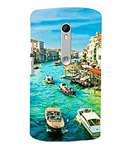 printtech Italy River Boats Back Case Cover for Motorola Moto X Style