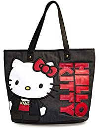Hello kitty tOTE aND rED bLACK shopper