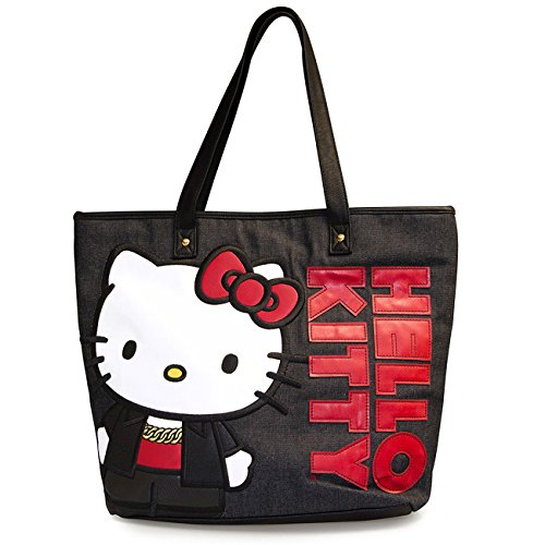 Hello Kitty Shopper BLACK AND RED TOTE Schwarz one size (Kitty Handtasche Hello)