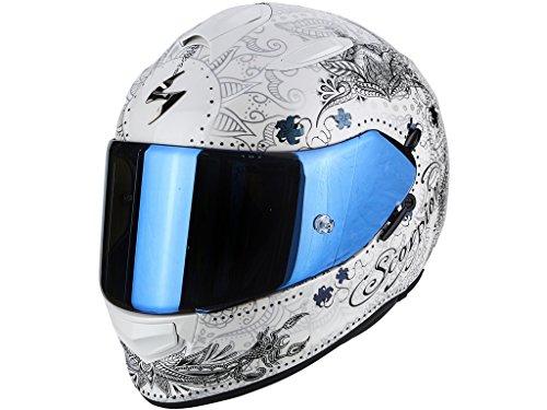 Scorpion Casco moto EXO-510 AIR AZALEA Bianco perla-platino XXS