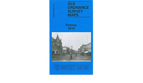 Antique Europe Maps & Atlases OLD ORDNANCE SURVEY DETAILED  MAP PUTNEY LONDON  1913 SHEET 113 europe map