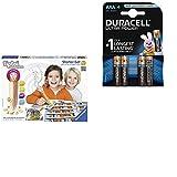 Ravensburger 00505 - tiptoi Starter-Set mit Stift und Spiel Schatzsuche in der Buchstabenburg mit Duracell Ultra Power Typ AAA Alkaline Batterien (4er Pack)