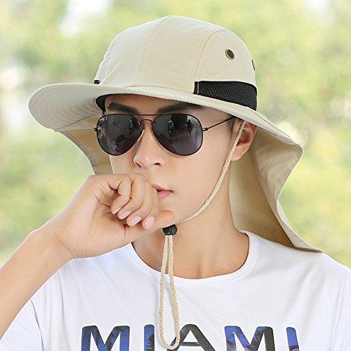 Chapeau Chapeau d'été, Sun Hat Hommes Protection du Cou Sunshading Sèche Et Confort Humidité Ventilation Pêche en Plein Air, 6 Couleurs en Option (Couleur : 5#)