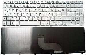 Clavier Français AZERTY pour ordinateur portable PACKARD BELL Easynote MH45 Blanc - Visiodirect -