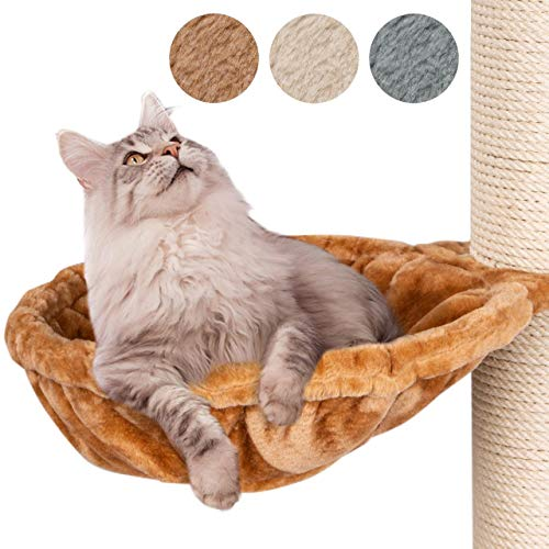 Happypet Liegemulden für XXL Kratzbaum Schlafmulde Zubehör für große Katzen (Maine Coon) Ø 45cm, BEIGE