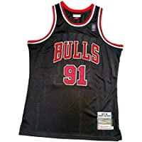 Camiseta de Baloncesto para Hombre, Camiseta de Baloncesto con Bordado Bulls 91 Rodman, Camiseta de Fiesta Hip-Hop, Chaleco sin Mangas Transpirable y de Secado rápido para Hombre