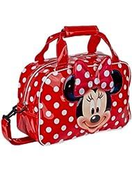 Karactermanía Minnie Bolsa de Deporte/Viaje, Color Rojo