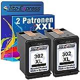PlatinumSerie® 2 Druckerpatronen remanufactured für HP 302 XL Black mit Füllstandsanzeige und 135% mehr Inhalt! Für HP OfficeJet 4650 4650 Series 4654 4655 4656 4657 4658