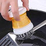 Wokee Einfache,Scrubber Scrubber Bürste für Küche & Badezimmer,Verwendung Palm Scrubber Wash Clean Tool Halter Seifenspender Pinsel Geschirrspülmaschine