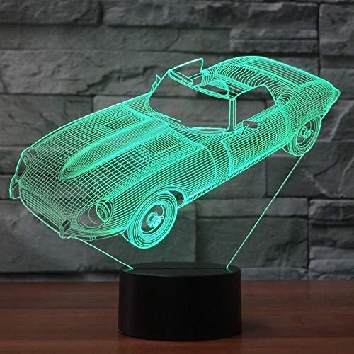 Moderne Cabrio-3 Licht (YDBDB Nachtlicht 3D Sportwagen Form Visuelle Schreibtischlampe Kinder Touch Button Led Usb Cabrio Baby Schlaf Beleuchtung Wohnkultur Weihnachtsgeschenke)