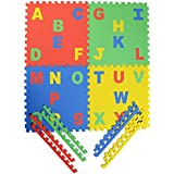 Archana Kid's EVA Puzzle Play Mat With English Pop Out Alphabets