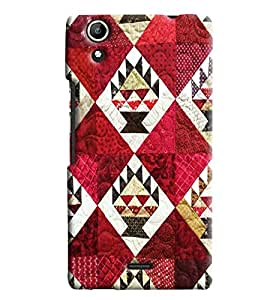 Blue Throat Red And White Burfi Pattern Hard Plastic Printed Back Cover/Case For Micromax Selfie 2