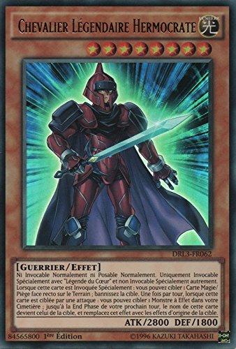 """Carte Yu-Gi-Oh! """"Chevalier Légendaire Hermocrate"""" DRL3-FR062 - VF/ULTRA RARE"""