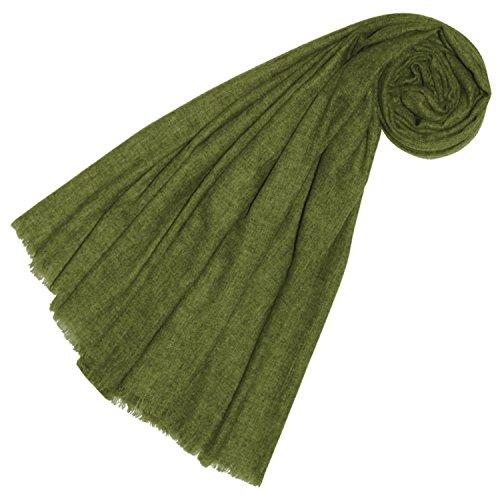 100% Wolle (Lorenzo Cana Luxus Yakwolle Damenschal aus Nepal Yak Schaltuch 100% Yak Wolle Yakwolleschal Uni Einfarbig Naturfaser Grün 78564)