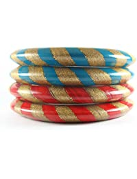 Sukriti Rajasthani Casual Lac Bangles Combo For Women & Girls - Set Of 2 + 2 (Color Variants Available)