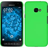 PhoneNatic Case für Samsung Galaxy Xcover 4 Hülle grün gummiert Hard-case + 2 Schutzfolien