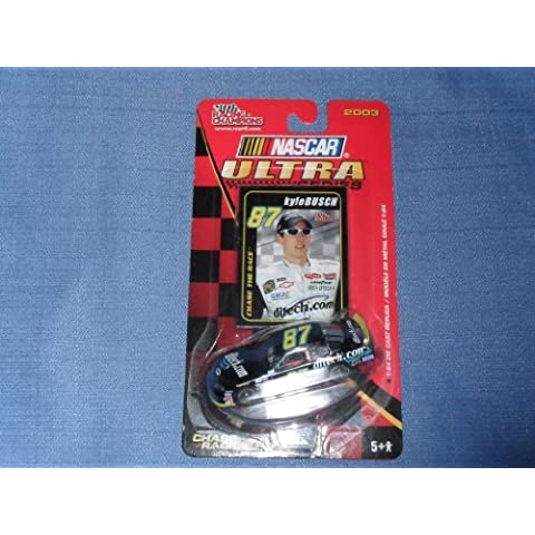 2003 NASCAR Racing Champions . . . Kyle Busch #87 ditech.com Chevy Monte Carlo 1/64 Diecast . . . Ultra Series . . . Includes Collector's Card and Display Stand by Nascar