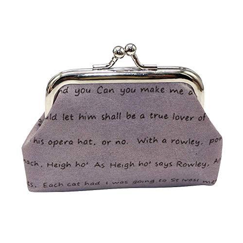 Vektenxi Geldbörse, Frauen mädchen kreative Buchstaben Baumwolltuch Mini Verschluss Brieftasche schlüssel kartenhalter Handtasche Geschenk langlebig und nützlich