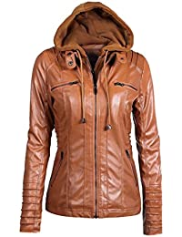 Reaso Femme Jacket Hoodie Hiver Manteaux à Capuche Blouson Zipper Veste  Cuir Cardigan Mode Gilet Casual Outwear Slim Coat Fleece… 899ab761b1e7