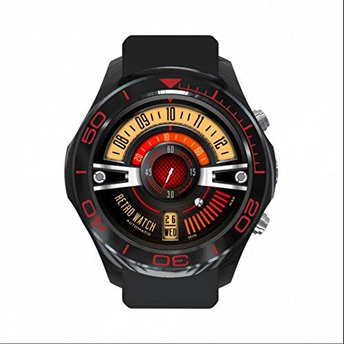 Aktivität Tracker Smartwatch Armbanduhr,Intelligente uhr,LED Dimmbarer Projektion Dual-Wecker Smart Watch Freisprechen Anrufe funktion mit allen iphone Android Handys