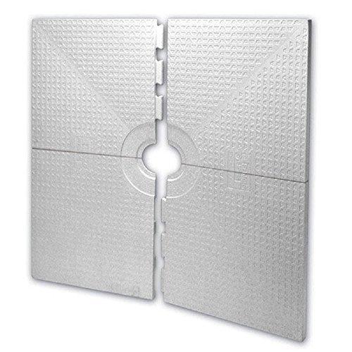 Schluter KERDI-SHOWER-ST - 48 x 48 - Shower Tray - Center Drain Placement - 1-1/2 Perimiter Height by Schluter