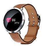 KingProst-Fitness Smartwatch Fitnessuhr Schlafmonitor Uhr Fitness Tracker mit Pulsmesser Aktivitätstracker Bluetooth Sport Uhren KalorienzäHler Armband (Silber)