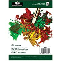 Essentials - Carta per colori a olio, 17 fogli da 13 x 18 cm