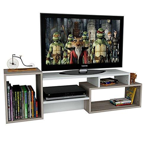 ALIDA TV Lowboard in Weiß / Avola – TV- Möbel Fernsehtish in elegantem Design - 2