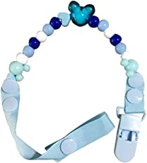 Vosarea Baby Dummy Pacifier Clip Chain Beads Toy Teether Holder (Light Blue)