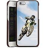 Apple iPhone 6s Lederhülle Leder Case Leder Handyhülle Motocross Motorrad Motorsport