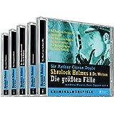 Sherlock Holmes und Dr. Watson - Die größten Fälle. 5 CDs: Der Hund von Baskerville / Silberstrahl / Der Shoscombe-Rennstall / Das Beryll-Diadem / Das Musgrave-Ritual / Das letzte Problem