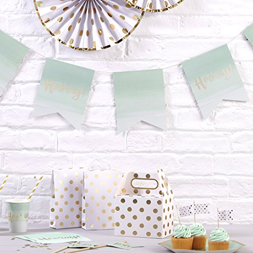 Pick and Mix - Mint Green Ombre & Gold Foiled Paper Bunting